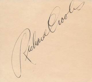 RICHARD CROOKS - AUTOGRAPH