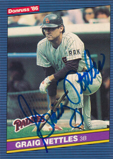 Autographs: GRAIG NETTLES - TRADING/SPORTS CARD SIGNED