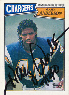 Autographs: GARY ANDERSON - TRADING/SPORTS CARD SIGNED