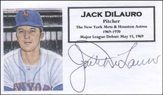JACK DILAURO - PRINTED CARD SIGNED IN INK