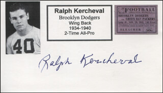 RALPH KERCHEVAL - PRINTED CARD SIGNED IN INK