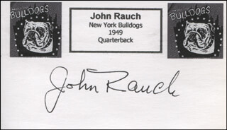 JOHN RAUCH - PRINTED CARD SIGNED IN INK