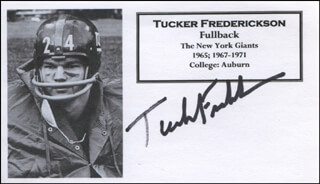 TUCKER FREDERICKSON - PRINTED CARD SIGNED IN INK