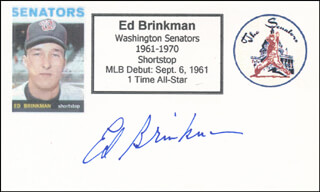 ED BRINKMAN - PRINTED CARD SIGNED IN INK