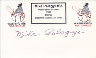 MIKE PALAGYI - PRINTED CARD SIGNED IN INK