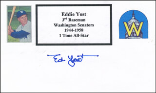 EDDIE THE WALKING MAN YOST - PRINTED CARD SIGNED IN INK