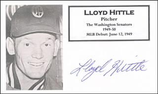 LLOYD HITTLE - PRINTED CARD SIGNED IN INK