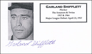 GARLAND SHIFFLETT - PRINTED CARD SIGNED IN INK