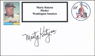 MARTY KUTYNA - PRINTED CARD SIGNED IN INK