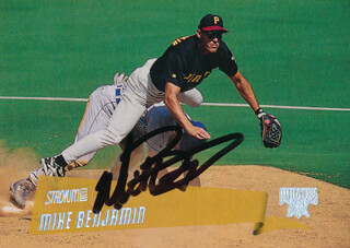 MIKE BENJAMIN - TRADING/SPORTS CARD SIGNED