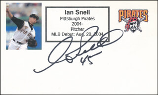 IAN SNELL - PRINTED CARD SIGNED IN INK
