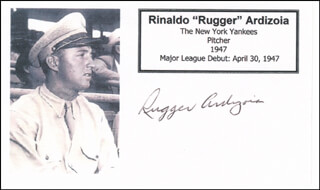 RINALDO RUGGER ARDIZOIA - PRINTED CARD SIGNED IN INK