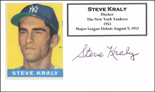 STEVE KRALY - PRINTED CARD SIGNED IN INK