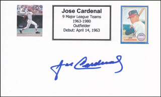 JOSE CARDENAL - PRINTED CARD SIGNED IN INK