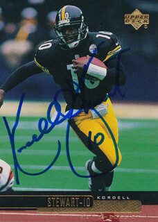KORDELL STEWART - TRADING/SPORTS CARD SIGNED