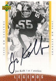 JON KOLB - TRADING/SPORTS CARD SIGNED