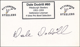 DALE DODRILL - PRINTED CARD SIGNED IN INK