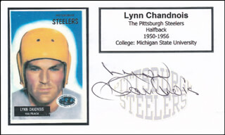 Autographs: LYNN CHANDNOIS - PRINTED CARD SIGNED IN INK