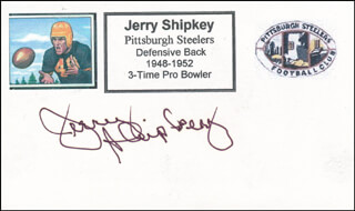 JERRY SHIPKEY - PRINTED CARD SIGNED IN INK