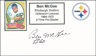 BEN MCGEE - PRINTED CARD SIGNED IN INK