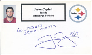 JASON CAPIZZI - PRINTED CARD SIGNED IN INK
