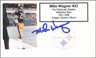 MIKE WAGNER - PRINTED CARD SIGNED IN INK
