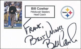 BILL COWHER - AUTOGRAPH NOTE SIGNED