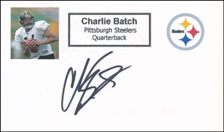 Autographs: CHARLIE BATCH - PRINTED CARD SIGNED IN INK