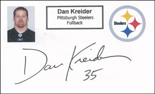 DAN KREIDER - PRINTED CARD SIGNED IN INK