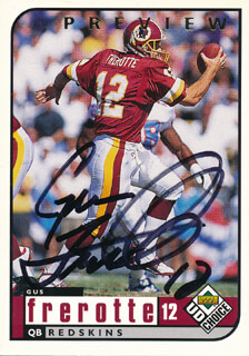 GUS FREROTTE - TRADING/SPORTS CARD SIGNED