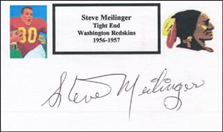 STEVE MEILINGER - PRINTED CARD SIGNED IN INK