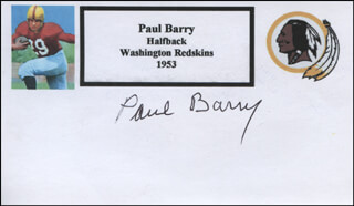 Autographs: PAUL BARRY - PRINTED CARD SIGNED IN INK