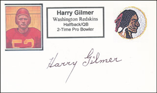 HARRY GILMER - PRINTED CARD SIGNED IN INK