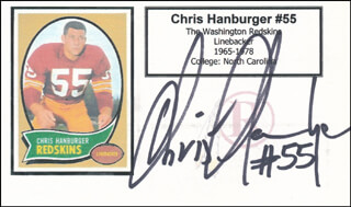CHRIS HANBURGER - PRINTED CARD SIGNED IN INK