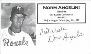 NORM ANGELINI - AUTOGRAPH SENTIMENT SIGNED  - HFSID 327480