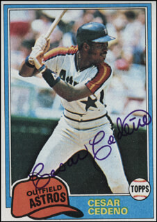 CESAR CEDENO - TRADING/SPORTS CARD SIGNED
