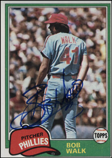 BOB (ROBERT VERNON) WALK - TRADING/SPORTS CARD SIGNED