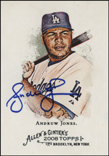ANDRUW JONES - TRADING/SPORTS CARD SIGNED
