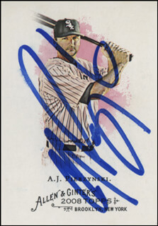 A.J. PIERZYNSKI - TRADING/SPORTS CARD SIGNED