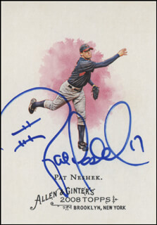 Autographs: PAT NESHEK - TRADING/SPORTS CARD SIGNED