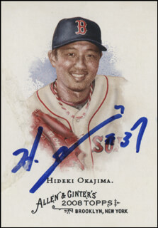 HIDEKI OKAJIMA - TRADING/SPORTS CARD SIGNED
