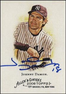 JOHNNY DAMON - TRADING/SPORTS CARD SIGNED