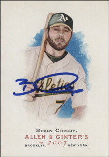 BOBBY CROSBY - TRADING/SPORTS CARD SIGNED
