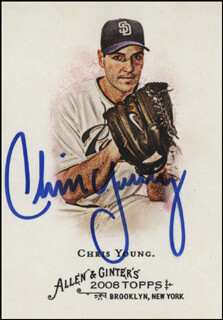 CHRIS YOUNG - TRADING/SPORTS CARD SIGNED