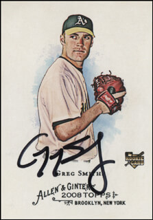 GREG SMITH - TRADING/SPORTS CARD SIGNED