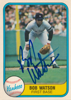 BOB BULL WATSON - TRADING/SPORTS CARD SIGNED