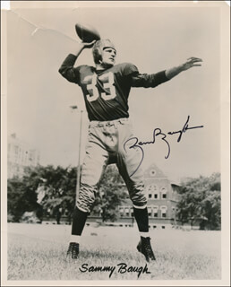 Autographs: SAMMY BAUGH - PRINTED PHOTOGRAPH SIGNED IN INK