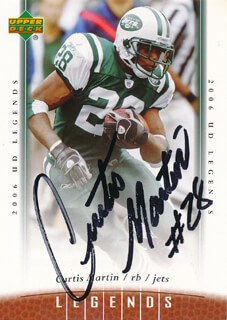 CURTIS MARTIN - TRADING/SPORTS CARD SIGNED