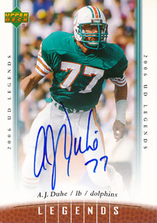 Autographs: A. J. DUHE - TRADING/SPORTS CARD SIGNED
