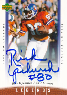 RICK UPCHURCH - TRADING/SPORTS CARD SIGNED